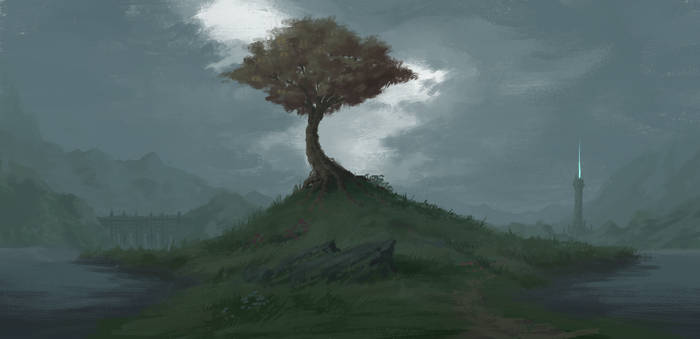 Painting Practice-Fantasy landscape