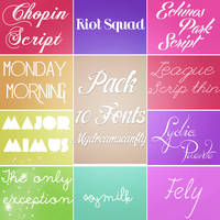 Pack 10 Fonts