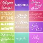 Pack 10 Fonts