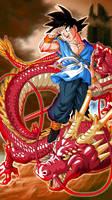Goku with Shenlong A