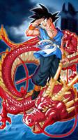 Goku with Shenlong B