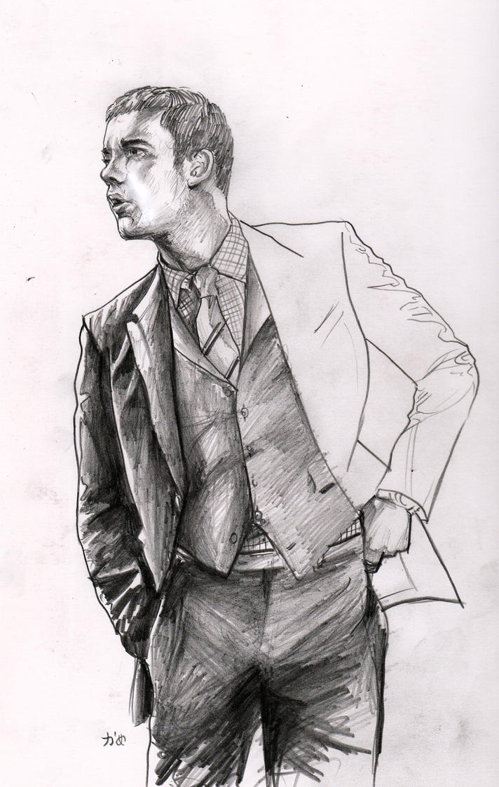 how to draw a guy in a suit