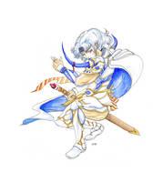 Amano-esque Cecil watercolor by noelle-chan