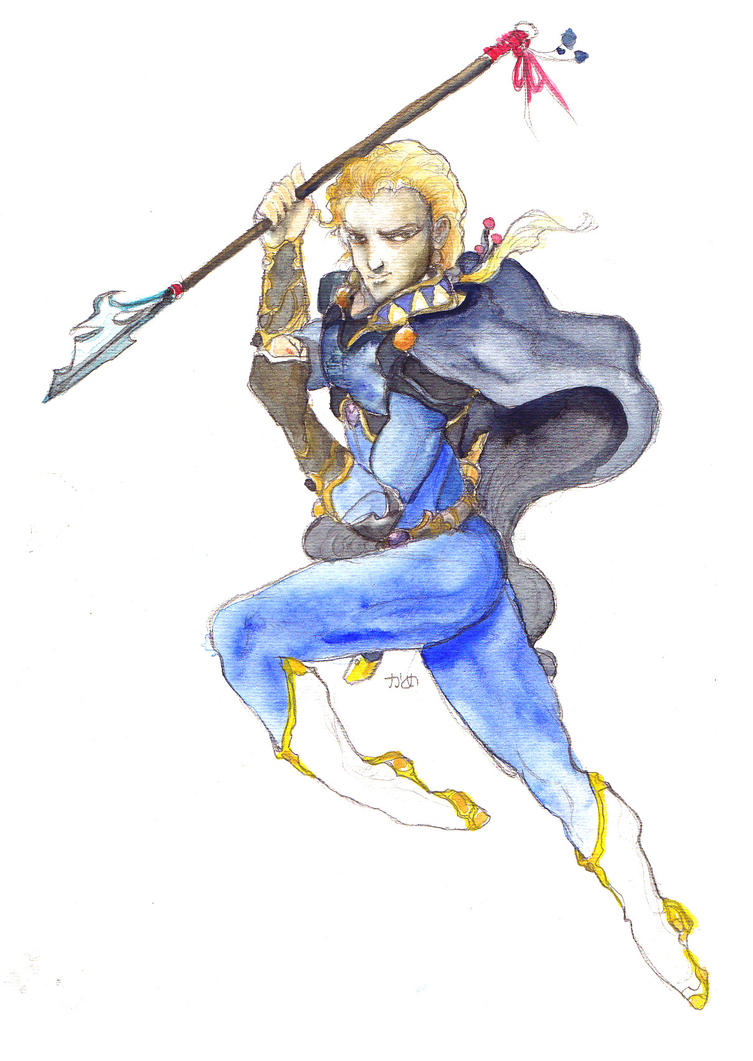 King Edgar the Dragoon (watercolor) by noelle-chan