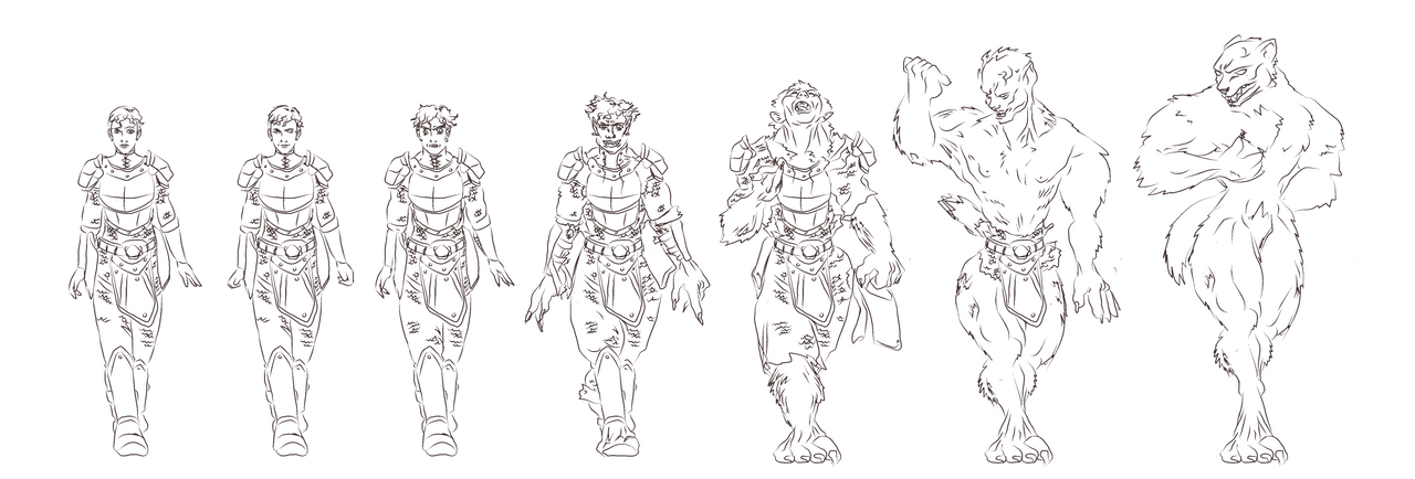 Wolf Transformation Sequence ESO character w...