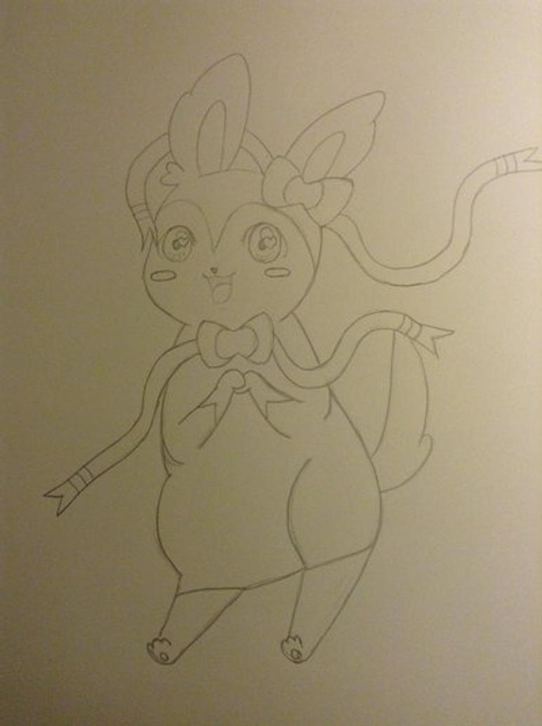 Sylveon line art by Chocoloverboar