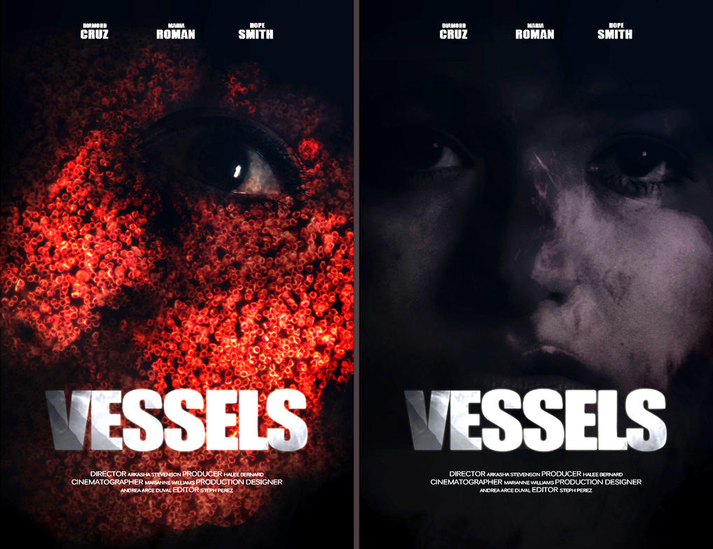 Poster design editor - Vessels Horror Movie Poster Design By Graphiclights