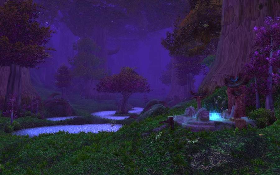 Teldrassil  - The Pools by DarknessBloodbane