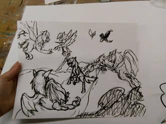 Manticore Battle Sketch