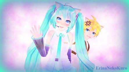 MMD Miku and Len 2