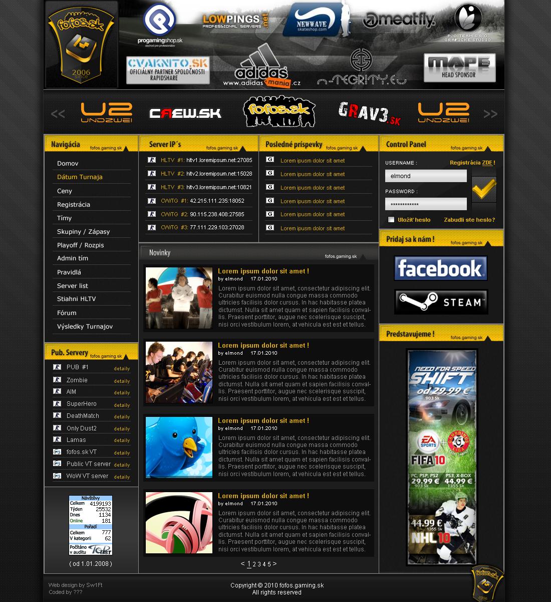 fofos.gaming Tournament design
