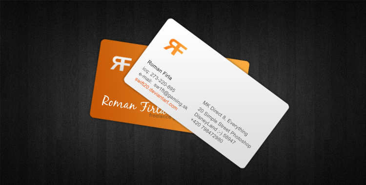 Business card design by swift20