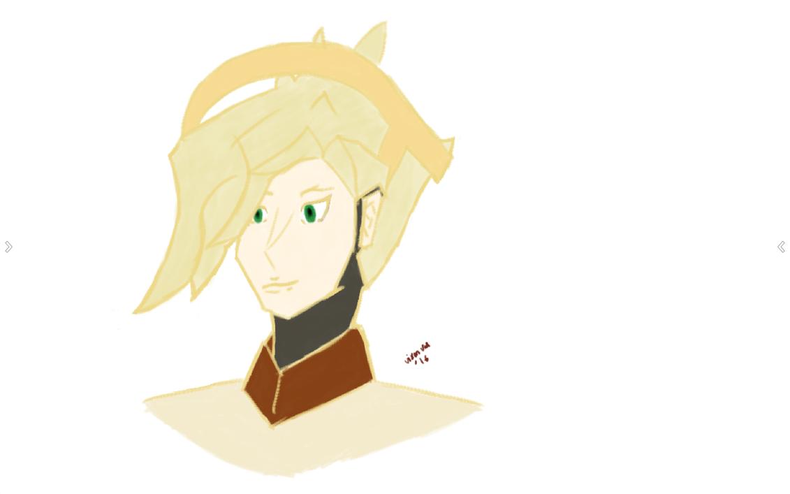 Mercy Head Sketch by VixenVal