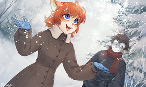Snowflakes (+text) by Zengel