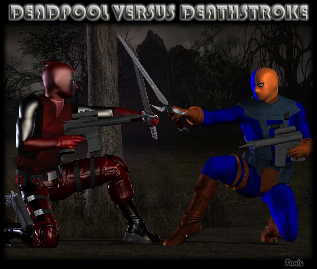 Deadpool Vs Deathstroke By TonyDumont