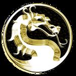 Gold Mortal Kombat Logo