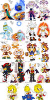 Sonic AU| Official characters references by HimeMikal