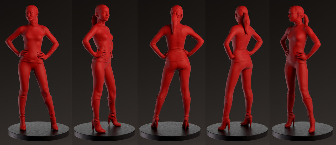 QuickSculpt_REDwoman by monkibase