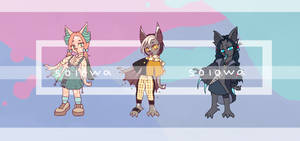 Cute Bats pack | Adoptable by NeroMint