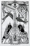 XVI - The Tower / Der Turm Tarot - Original