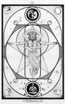 V-The Hierophant / Der Hohepriester Tarot Original