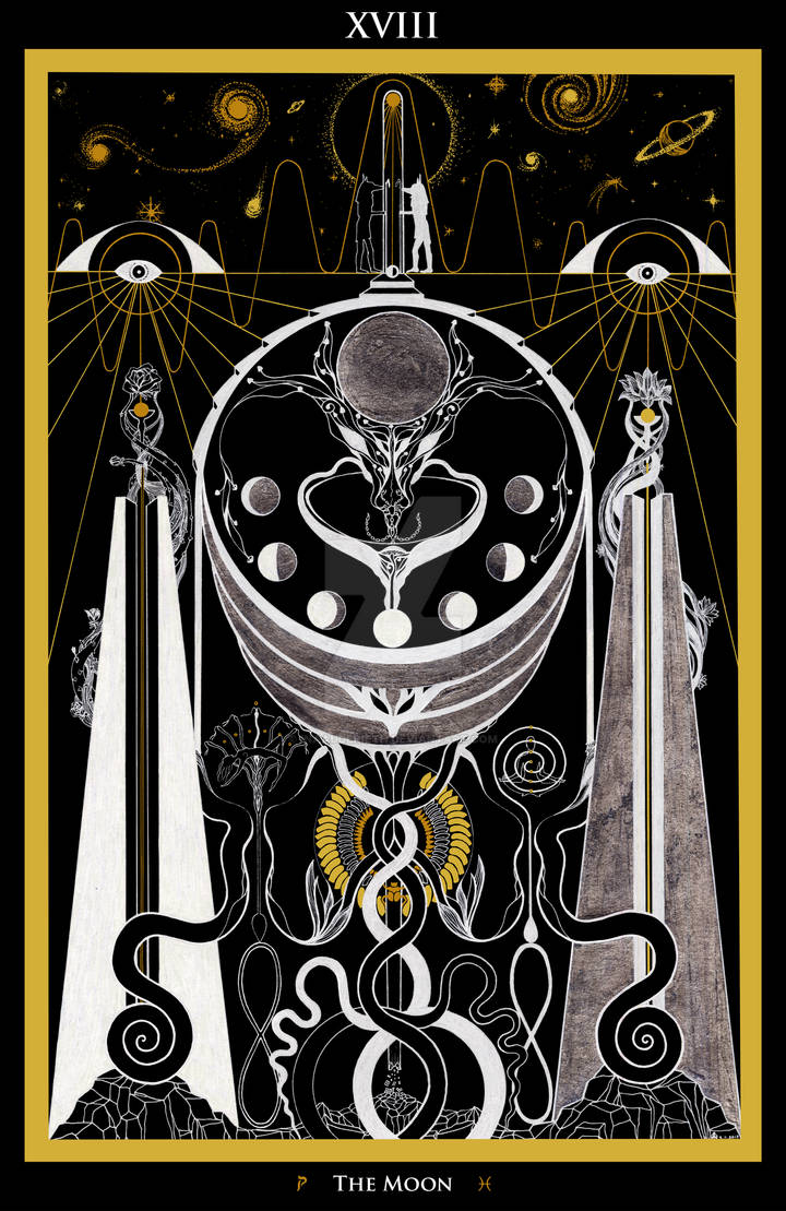 XVIII - The Moon Tarot by InaAuderieth