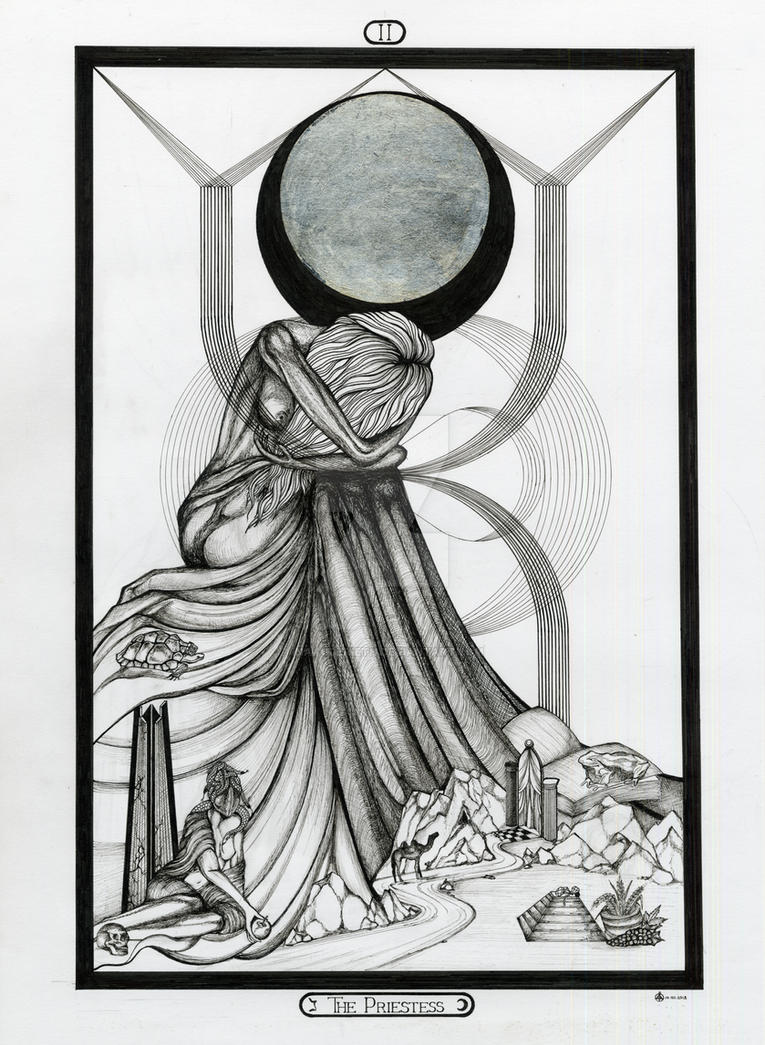 II The Priestess - Tarot Original by InaAuderieth