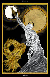 Knight of Wands/ Ritter der Staebe Tarot by InaAuderieth
