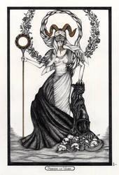 Princess of Wands / Prinzessin der Staebe Tarot
