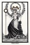 Princess of Wands / Prinzessin der Staebe Tarot by InaAuderieth