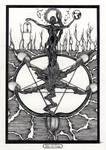 Five of Cups / Fuenf der Kelche Tarot by InaAuderieth
