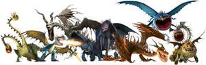 HTTYD Dragon Renders