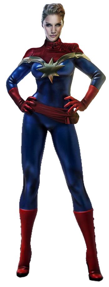 MCU Captain Marvel Transparent by TFPrime1114