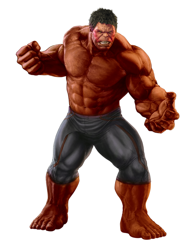MCU Red Hulk Transparent by TFPrime1114