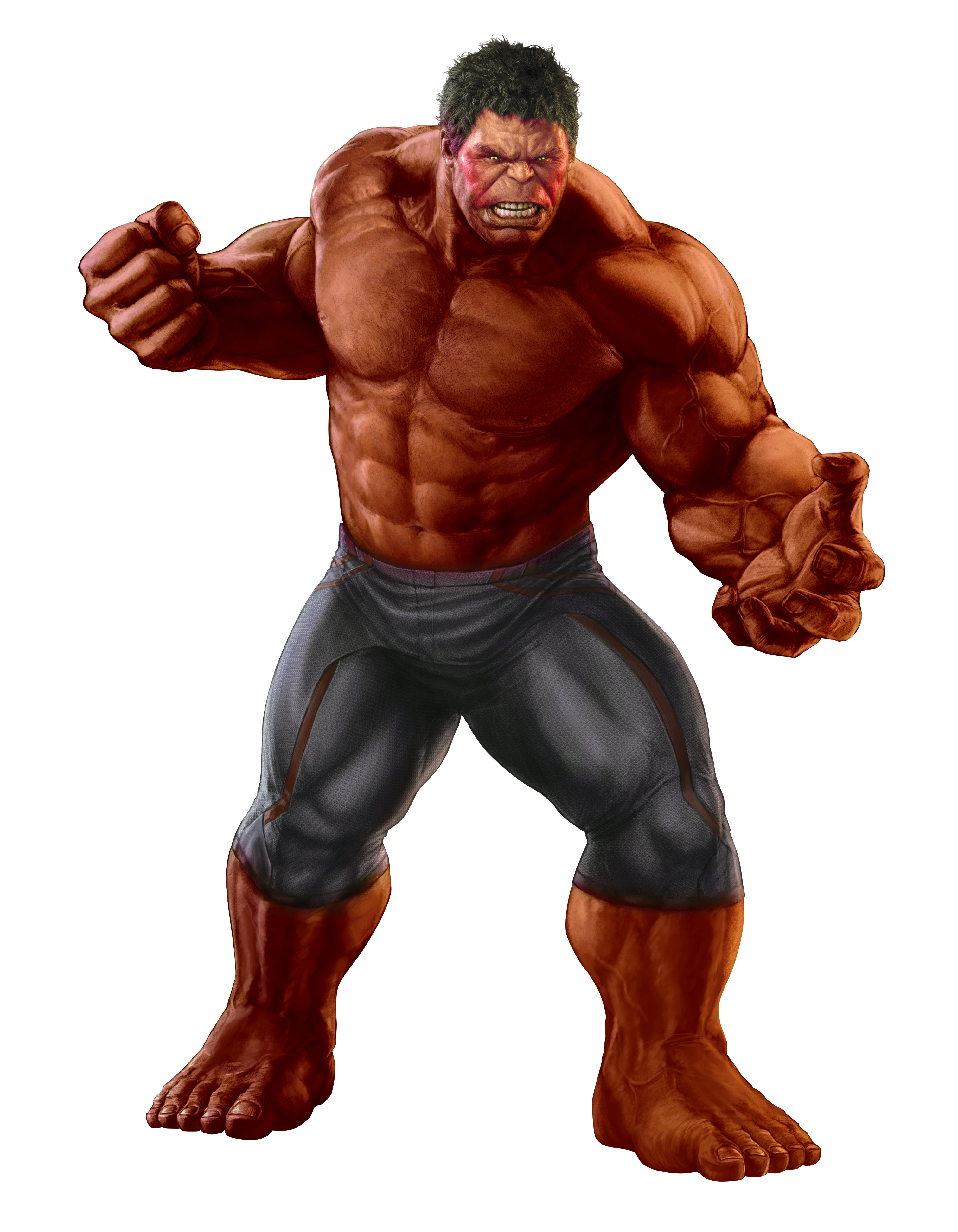 MCU Red Hulk Transparent by TFPrime1114 on DeviantArt
