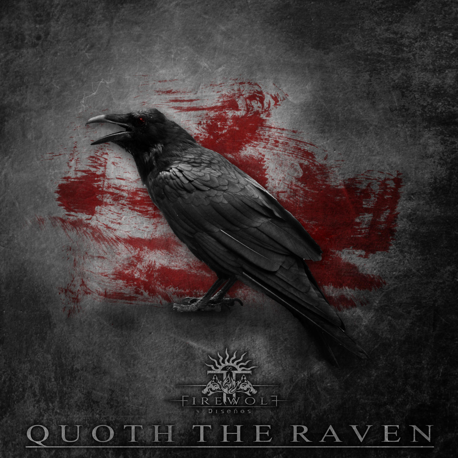 """quoth the raven the raven poem Our café-ku poem with the image of a raven head with a coffee bean in its beak on one side on the other side, an image of a raven perched on a coffee bean with the text """"quoth the raven, pour some."""