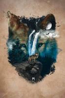 Calm of the Wolf by FirewolfDigitalArt
