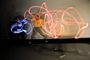 Kung Fu Glow Stick Battle