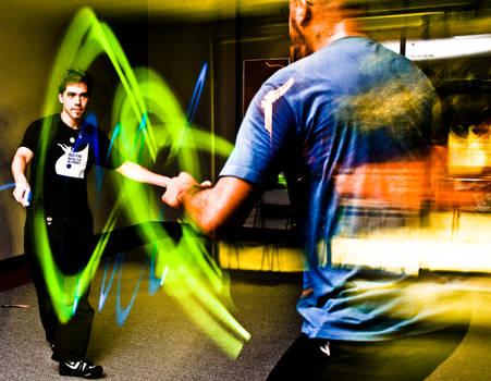 Kung Fu Glow Stick Fight