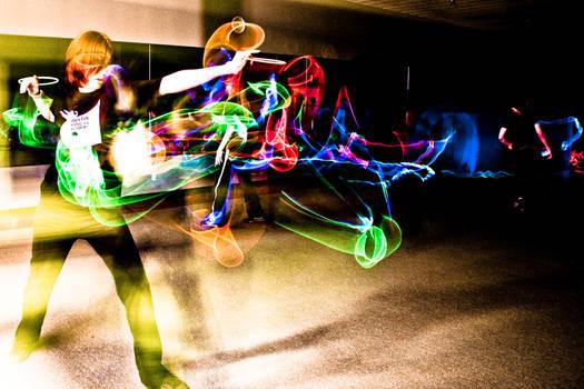 Kung Fu Glow Stick Form