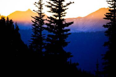 Sunset in Mount Rainier