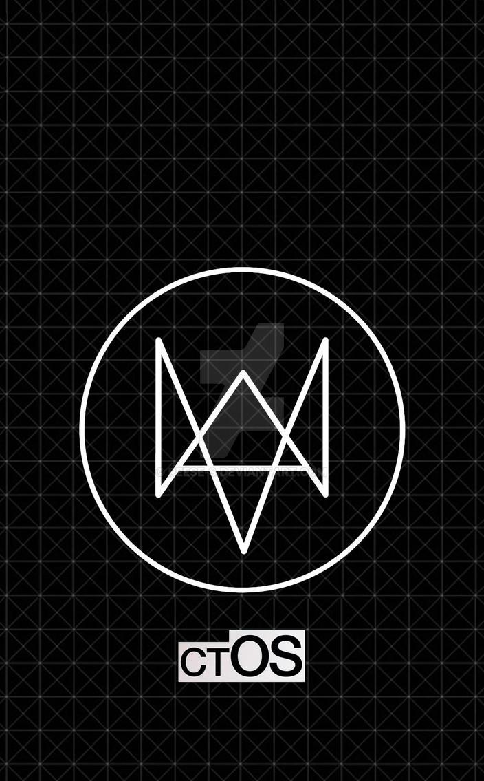 watch dogs fox logo iphone wallpaper download