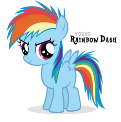 Competitive Rainbow Dash Filly by Blackm3sh