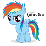 Competitive Rainbow Dash Filly