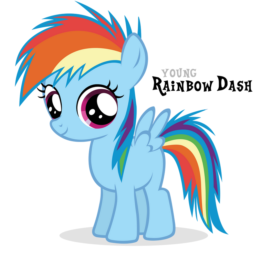 Rainbow Dash Filly by Blackm3sh on DeviantArt