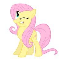 Fluttershy watch out by Blackm3sh
