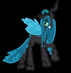 Queen Chrysalis (no armor?) by Blackm3sh