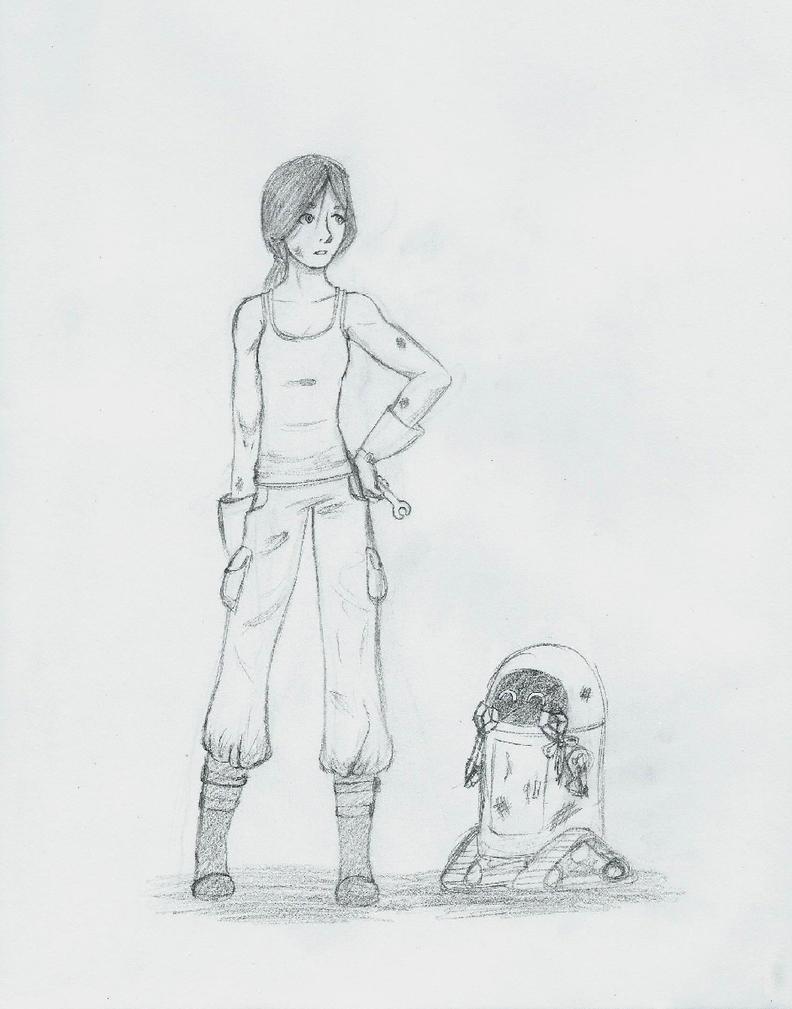 Cinder and Iko by NightmareSiren