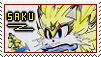 [Stamp] Saku the Light Wolf by Elecstriker