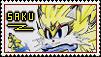 [Stamp] Saku the Light Wolf by Elecstriker
